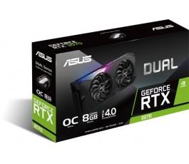 ASUS Dual GeForce RTX 3070 OC, DUAL-RTX3070-O8G, 8 GB GDDR6, 2x HDMI, 3x DP (90YV0FQ0-M0NA00)
