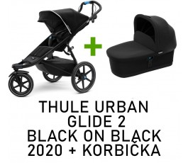 Thule urban glide 2 black on black 2020 + korba