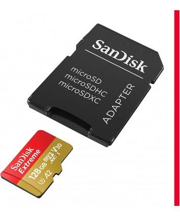 SanDisk Extreme 128 GB microSDXC paměťová karta a SD adaptér